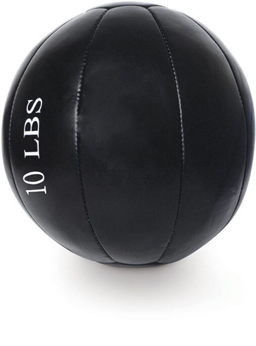 10 LB Real Leather Hand Stitch Medicine Ball (No Bounce Weighted Exercise Ball)