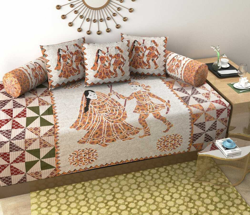 Bedsheet Rajasthani 1 single bedsheet 60x90 2 booster cover 3 cushion cover