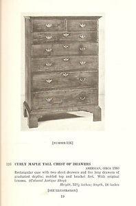 Fine American Furniture Auction Catalog The Colonial Antique Shop Illus 1938 Ebay