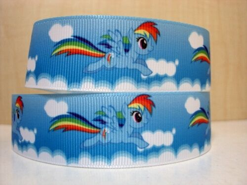 "Rainbow dash mon petit poney ruban large 1/"" neuf uk vendeur"