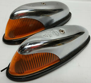 Pair-chrome-Amber-cab-top-clearance-lights-by-Peterson-Lighting-PMCO-112-SAE-61