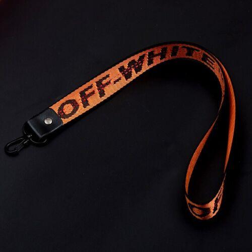 New Off White Industrial Belt Key Ring Keychain Nylon Strap Lanyard Virgil Abloh