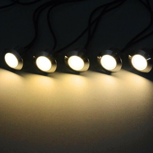 10pcs LED Deck Light Kit Outdoor Yard Garden Step Road Path Lights Pathway Lamp