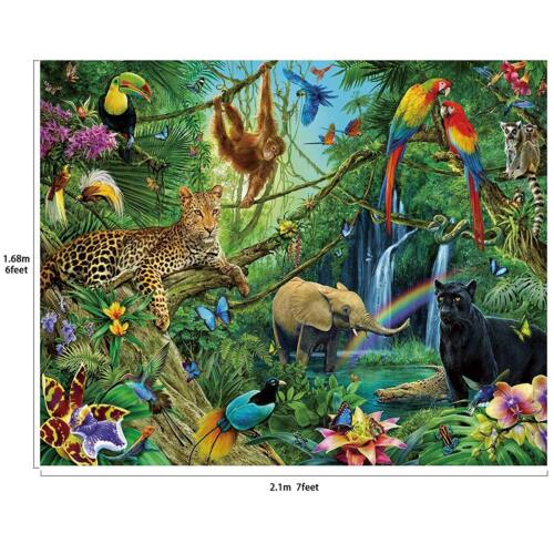 Party Backdrop Banner Animals Scene Setters Photography Background 7x6 feet