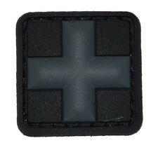 Rubberpatch Rettungsdienst Tactical Medic Cross Kreuz schwarz/grau klein