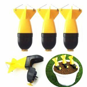 Long-Shot-Fishing-Bait-Rocket-Feeder-Holder-Maker-Tackle-Bomb-Bait-Float-HOT