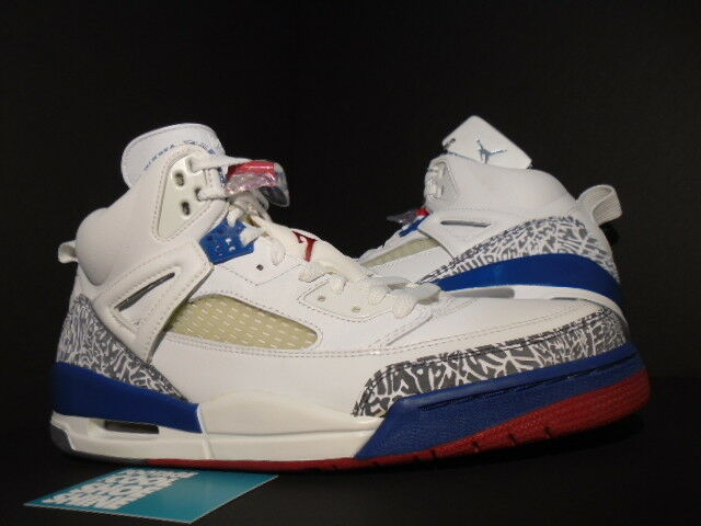 2007 Nike Air Jordan SPIZIKE blanc TRUE Bleu FIRE rouge CEMENT Gris 315371-163 12