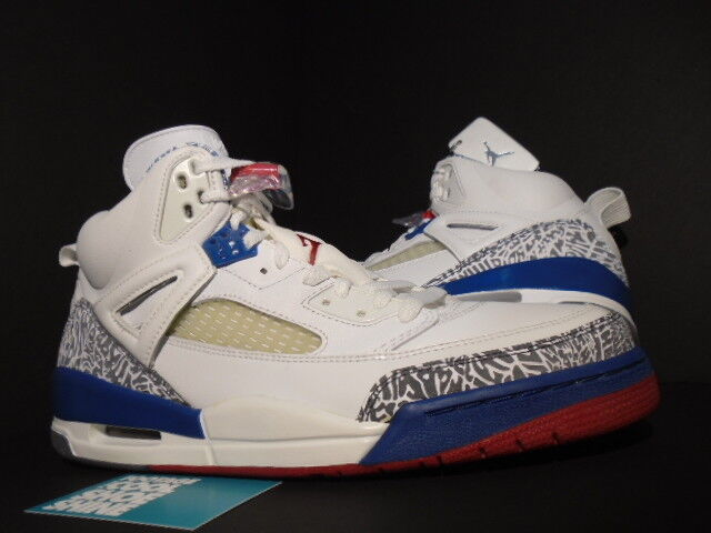 3a290d4934518 2007 Nike Air Air Air Jordan SPIZIKE WHITE TRUE BLUE FIRE RED CEMENT GREY  315371-