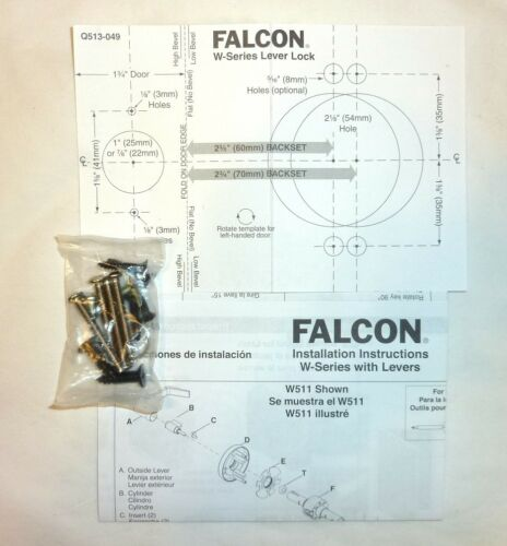 Falcon W561P6 DAN 613 G Commercial Classroom Door Lock Lever S keys DARK BRONZE