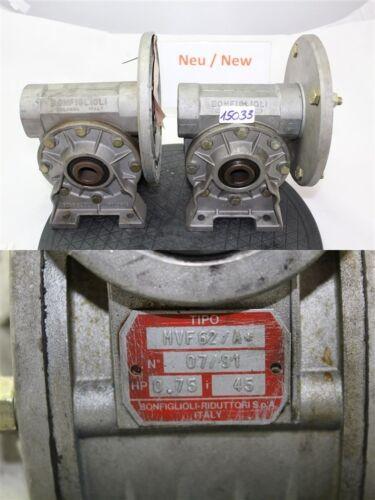 Bonfiglioli mvf62/a vis sans fin I = 45 boîte de vitesses de transmission moteur GEARBOX