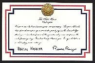 Happy anniversary card from the white house the reagans ebay image is loading happy anniversary card from the white house amp m4hsunfo