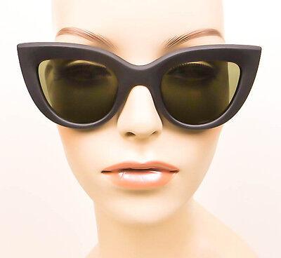 Retro Flat Top Cat Eye Thick Frame Hot Kitti Fashion Blogger Mod Sunglasses 6431