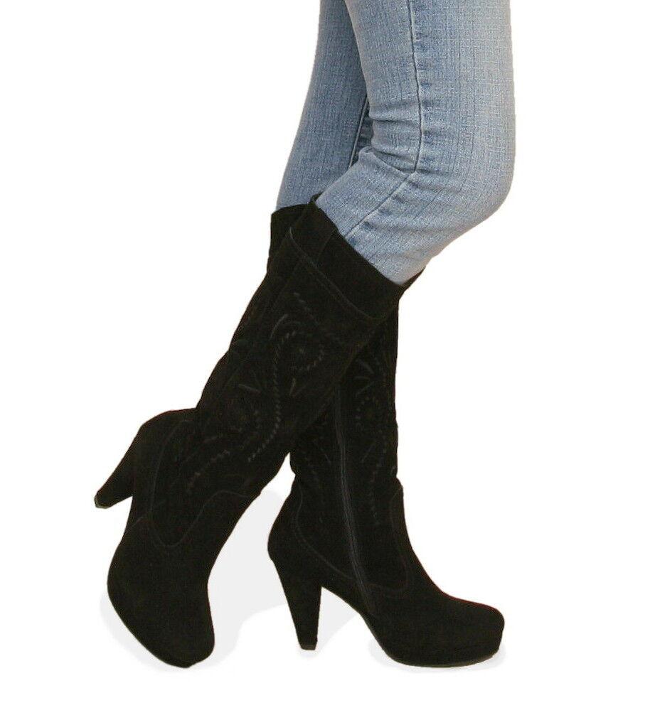 Nuova Svede di  Coloreeee nero Stivali di pelle  garantito