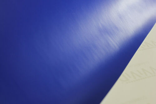 Matte Dark Blue Satin Vinyl 5ft x 1ft Cast Decal New Car Wrap Interior