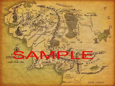 LOTR 7X10 PHOTO OF THE MAP OF MIDDLE EARTH! #2047 | eBay