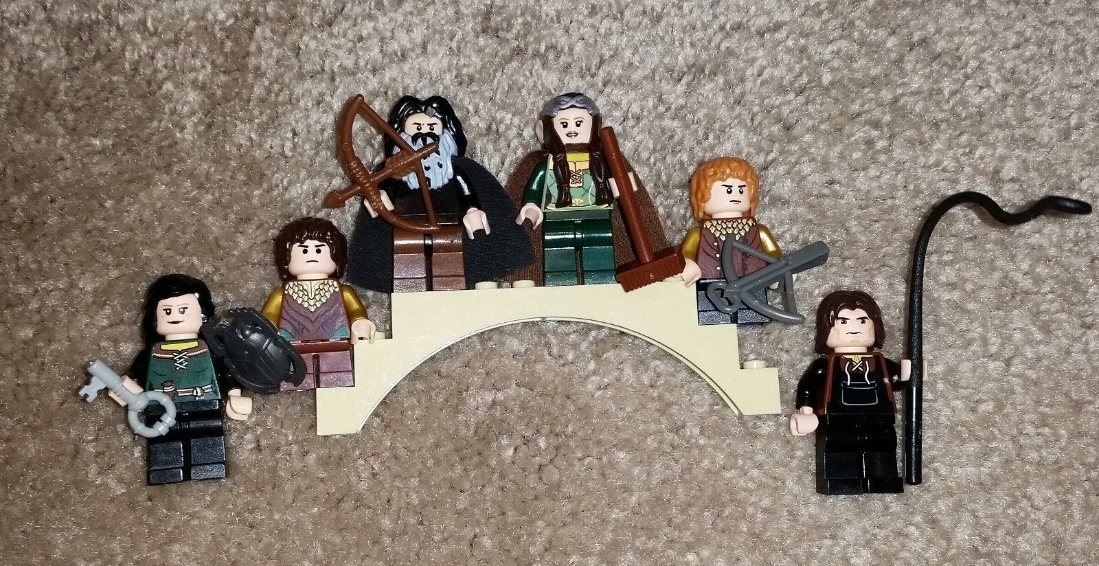 LOTR Hobbit Lord of the Rings Genuine LEGO Lot Minifigures w/ Accessories