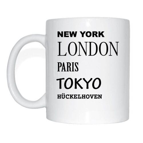 HÜCKELHOVEN  Tasse Kaffeetasse New York London Tokyo Paris