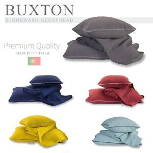 899ac5860 Details about Buxton Woven 100% Pure Cotton Premium Quality Stonewashed  Bedspread Collection