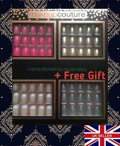 80pcs-False-Nails-4-Sets-Decorated-Artificial-Nails-Box-FREE-GIFT