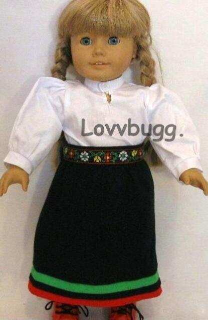 """Doll Clothes 18/"""" Doll Dress School Pioneer Fits American Girl Doll Kirsten"""