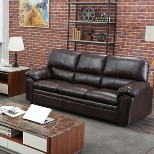 Image Is Loading Sofa Leather Couch Contemporary For