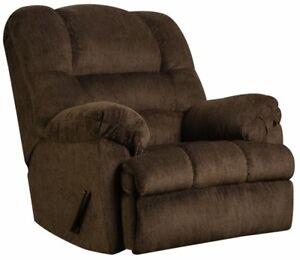 Image Is Loading LARGE Brown Oversized Rocker Recliner Arm Chair Recliners