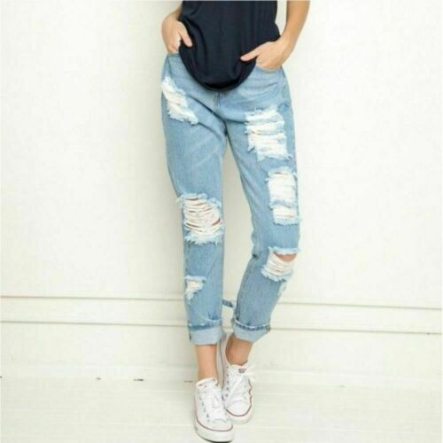 Brandy Melville Distressed Boyfriend Jeans Ripped