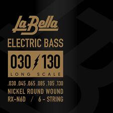 La Bella RX-S6B Bass Rx Stainless Bass Guitar Strings 6 String Set