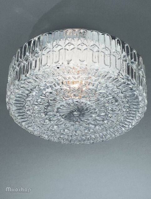 best loved da163 948b9 Philips Massive Traditional Irina Flush Ceiling Light - Patterned Glass 60w  E27