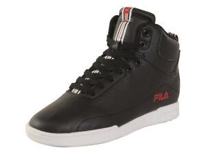 Fila-Men-039-s-Wisterio-Mid-Black-Fila-Red-White-Sneakers-Shoes