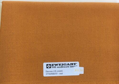 "Zweigart Davosa Fabric 18 Count Fat Quarter 18/"" x 27/"" Cross Stitch 8 Colors"