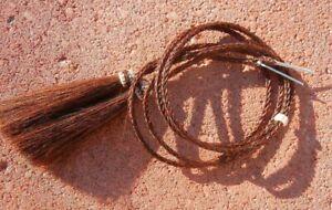 Western COWBOY Hat Stampede string Hand Braided Horsehair Chestnut color