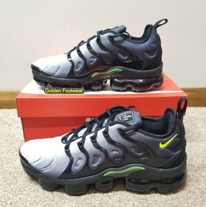 finest selection 8e4cc 3e265 Details about Nike Air Vapormax Plus Black Volt Size 8.5 UK Genuine  Authentic Mens Trainers