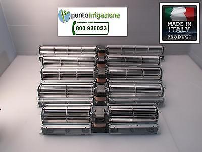 Ventilatore Tangenziale da 60 doppio 2 ventole termoconvettore camino forno 230V