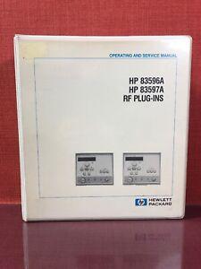 HP 83596A 83597A RF Plug-in  Schematics// CLIP Manual