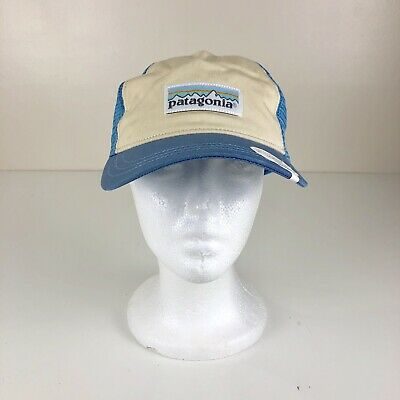 Patagonia W/'s Pastel P-6 Label Layback Trucker Hat Blue /& Cream Color NWT NEW