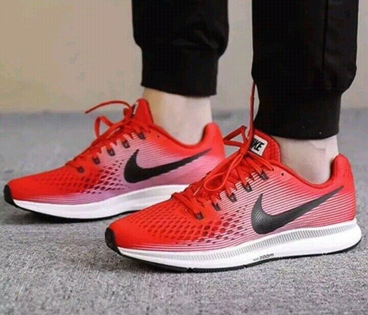 Nike Air Zoom Pegasus 34 880555 602 Red Red Red Black White Size US 9.5 210856