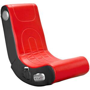sessel mit lautsprecher soundsessel mit 2 1 system f r gaming und musik rot ebay. Black Bedroom Furniture Sets. Home Design Ideas