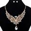 Fashion-Elegant-Women-Rhinestone-Crystal-Choker-Bib-Statement-Pendant-Necklace thumbnail 52