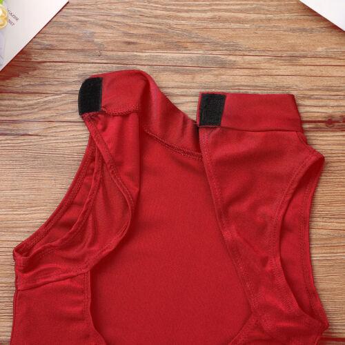 Kid Girl Ballet Dance Leotard Dress Open Back High Mock-Turtleneck Neck Bodysuit