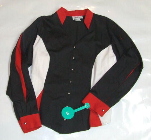 Femmes Western Show Shirt 1x 3x Rouge Noir Blanc RODEO Baril Racer Banjo USA 121