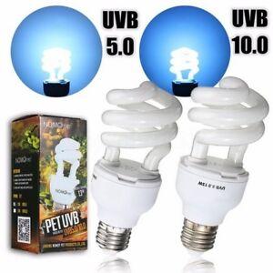 Reptile Uvb 5 0 10 0 13w Fluorescent Heat Compact Desert Terrarium