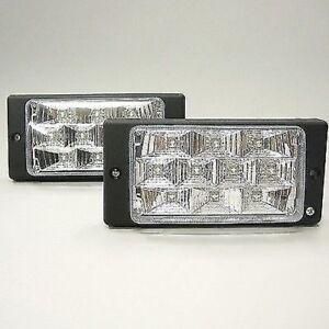 Rechteckig-Stil-LED-Nebel-Scheinwerfer-2-X-Auto-Transporter-Pick-Up-4x4-Offroad