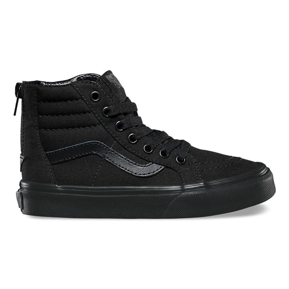 VANS KIDS SK8-Hi Zip (Pop Check)) Black