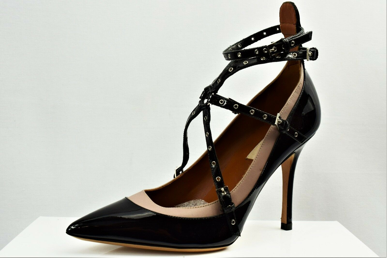 VALENTINO LOVE LATCH UK LEATHER PUMPS LADIES HIGH HEELS SIZE UK LATCH 4.5 (AJ8) b3e1a6
