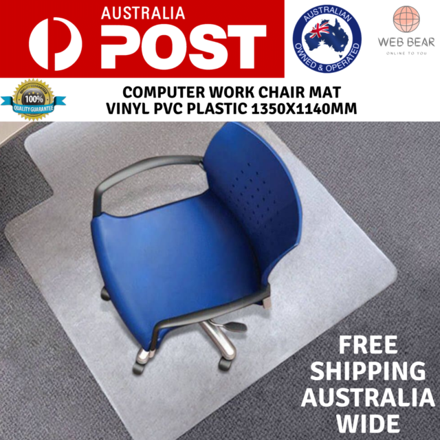 Carpet Floor Office Home Computer Work Chair Mats Vinyl PVC Plastic 1350x1140mm