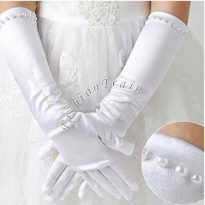 Child Kid Baby Girl Elbow Long//Short Party Gloves Wedding Pageant Formal Evening