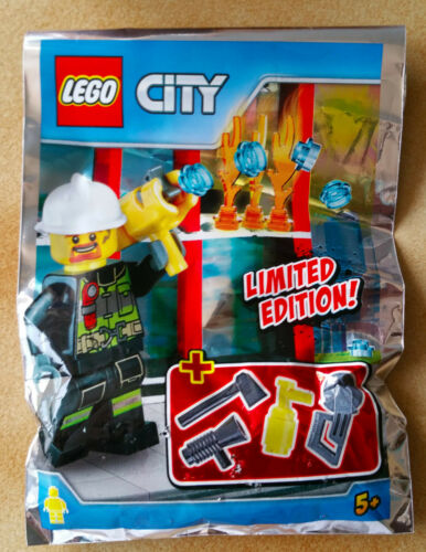 SACHET POLYBAG LEGO MINIFIGURE THEME CITY LE POMPIER FIREMAN AVEC ACCESSOIRE