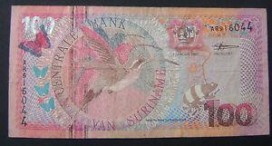 Suriname-100-gulden-2000-colibri-amp-butterfly-Pick-149