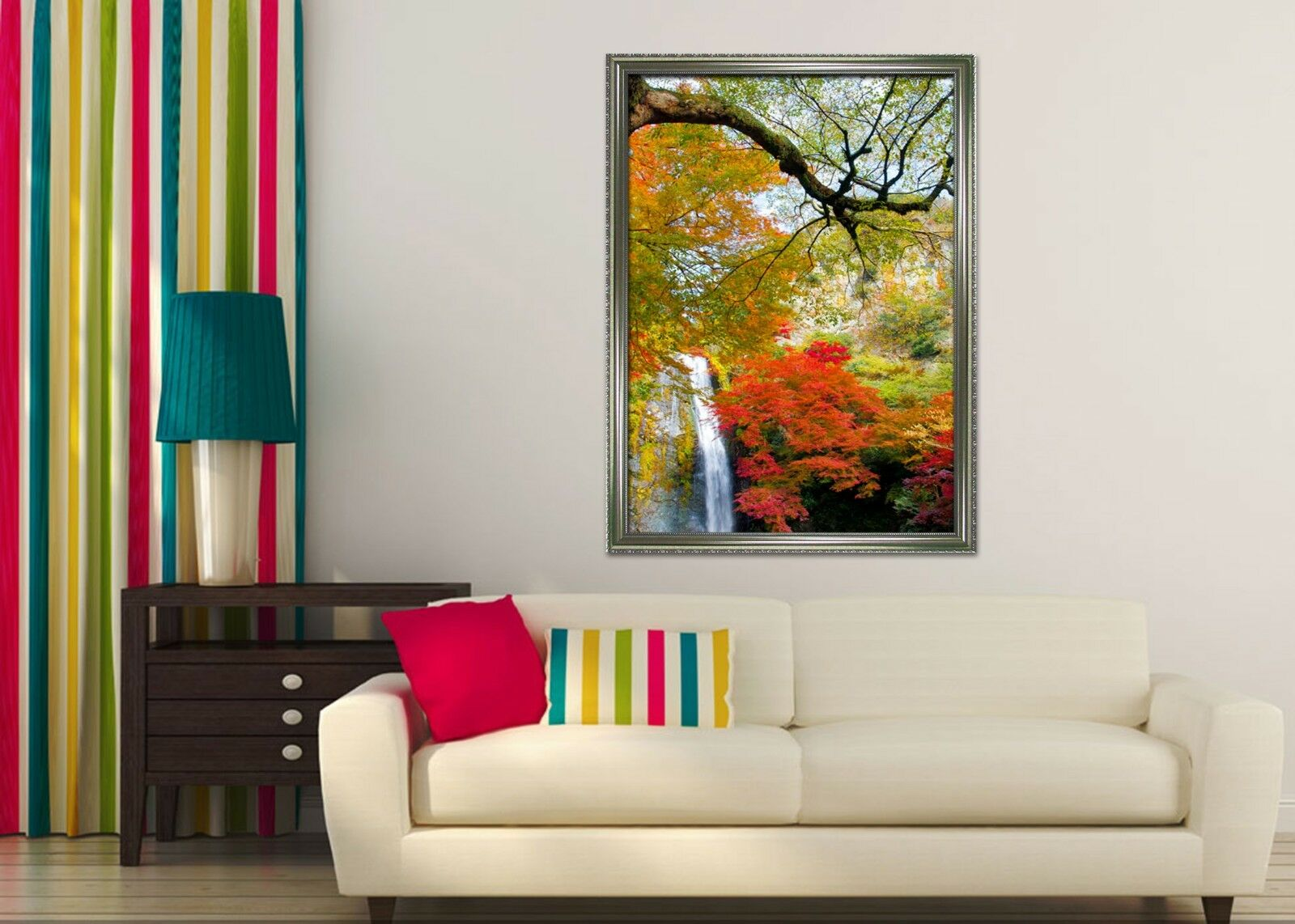 3D Autumn Forest 667 Fake Framed Poster Home Decor Print Painting Unique Art